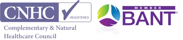 Complementary & Natural Healthcare Council Registered and BANT Member Logos